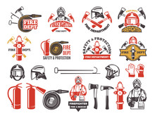Colored Badges For Firefighter...