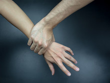 Hand Catching Others Wrist,  G...