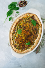 Quiche With Spinach And Cheese...
