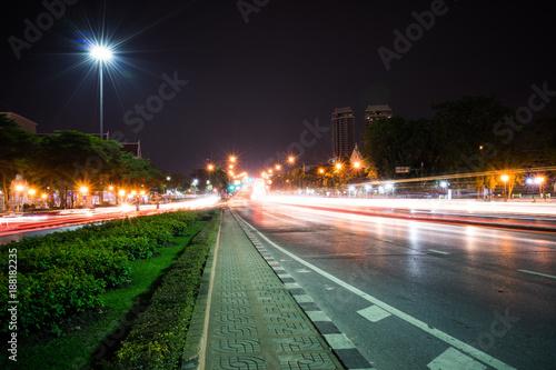 Foto op Aluminium Nacht snelweg Night view road.