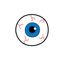 Eyeballs With Blue Iris Isolat...