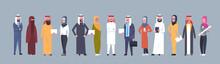 Arabic People Group Wearing Tr...