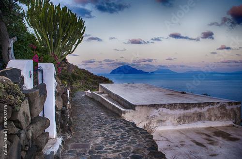 Filicudi e le altre isole Eolie viste da Alicudi (Sicilia, Messina) Wallpaper Mural