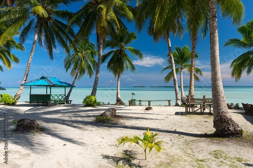 Paradise deserted tropical beach in Indonesia Wallpaper Mural