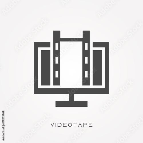 Fotografia, Obraz  Silhouette icon videotape