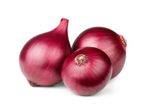 Red Onions Isolated On White B...