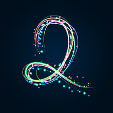 Neon Light Painting – Number 2