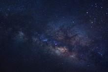 Starry Night Sky And Milky Way...