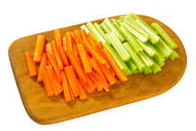 Carrot And Celery Sticks Isola...