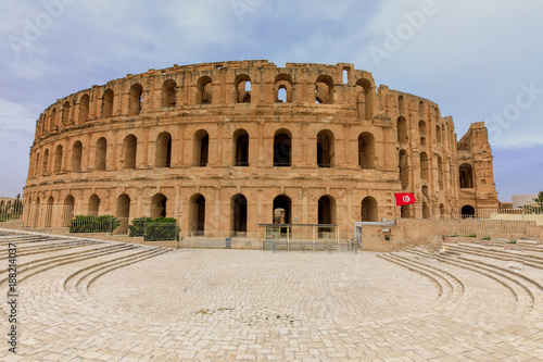 Fotografie, Obraz  El Djem  -Roman Amphitheater
