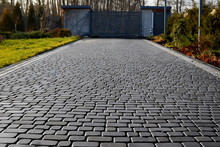 Cobblestone Entrance In The Ga...