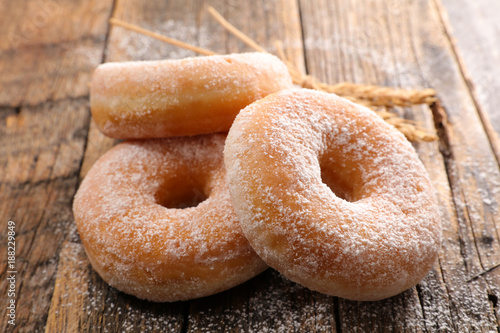 Photo  delicious sugar donut