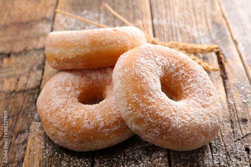 delicious sugar donut Canvas Print