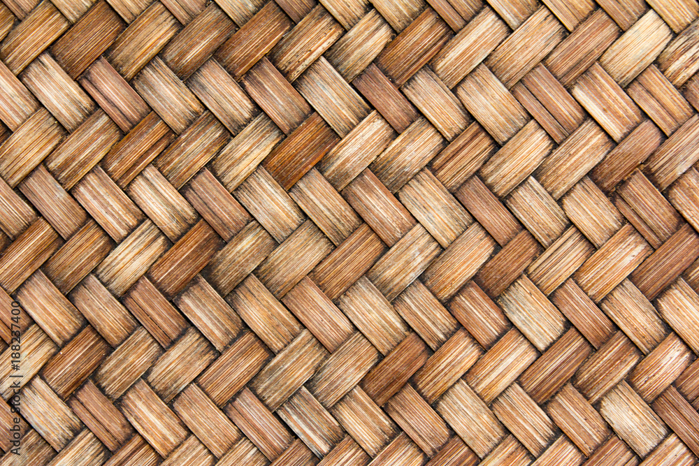 Fototapety, obrazy: Closed up of brown color wicker textured background