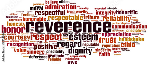 Tablou Canvas Reverence word cloud