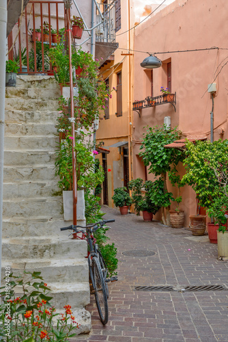 Street in old town Chania, Crete island, Greece © mahout