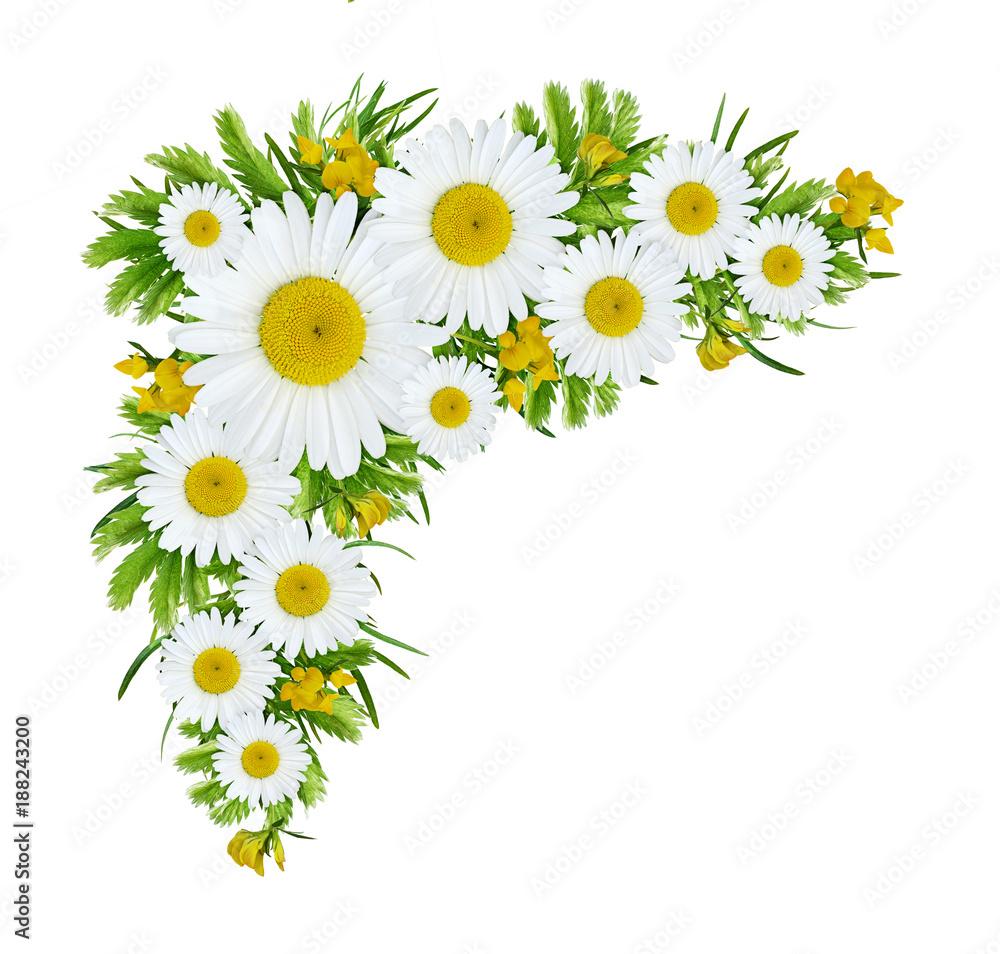 Wild flowers corner arrangement