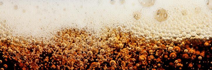 Macro shot of cola bubbles
