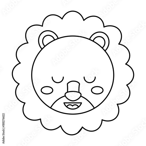 Cute Head Lion Animal Close Eyes Cartoon Vector Illustration Outline Design Buy This Stock Vector And Explore Similar Vectors At Adobe Stock Adobe Stock Lion head drawing lion drawing simple rabbit drawing tiger drawing drawing faces outline drawings easy drawings face sketch drawing aggressive goat head design will be suitable for different purposes! cute head lion animal close eyes