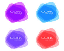 Set Of Round Colorful Vector S...