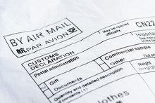 Air Mail Delivery Lable From C...