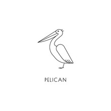 Pelican Outline Icon