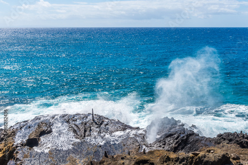 Fotografie, Tablou Hawaiian blowhole