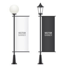 Set Of Vector Lamposts, With B...