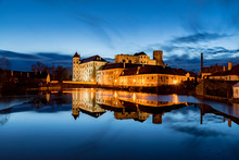 The Great Castle In Jindrichuv Hradec At Night