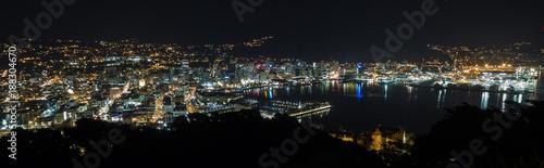 Wellington City Night City Lights Panorama  © Joshua Daniels