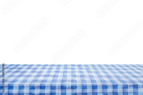 Fotografie, Obraz Checkered tablecloth texture top view on white background.