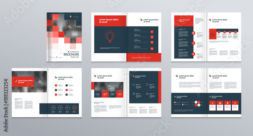 Obraz   template layout design with cover page for company profile ,annual report , brochures, flyers, presentations, leaflet, magazine,book . and  vector a4 size for editable. - fototapety do salonu