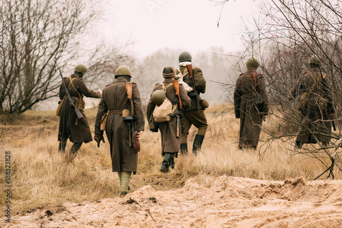 Fotografía  Soldiers of the Red Army in the field
