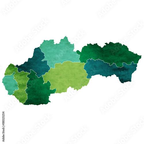 スロバキア 地図 国 アイコン Wallpaper Mural