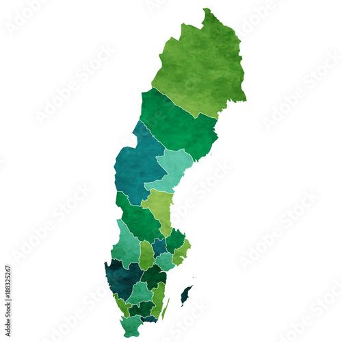 スウェーデン 地図 国 アイコン Wallpaper Mural