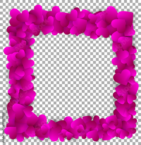Love frame made of cute purple paper hearts - Buy this stock vector ...