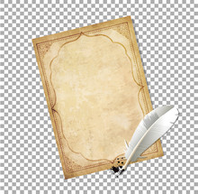 Old Fashioned Letter Paper Wit...