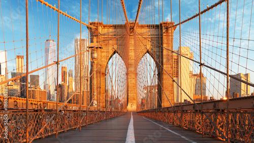 Keuken foto achterwand New York City New York, USA, Brooklyn bridge