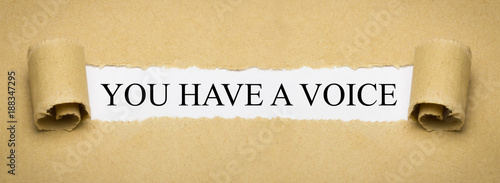 Fotografia, Obraz You have a voice