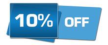 Discount Ten Percent Off Blue Side Squares