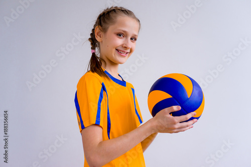 Girl playing volleyball