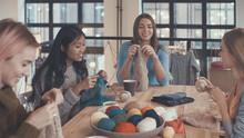 At Knitting Lesson