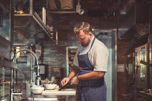 Papiers peints Restaurant Professional in the kitchen