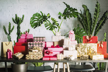 Stacks Of Colorful Gift Boxes ...