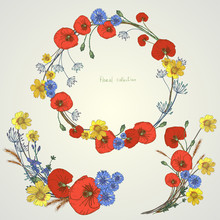 Wreath Of Wild Flowers