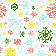 Colorful Snowflake - Seamless Pattern