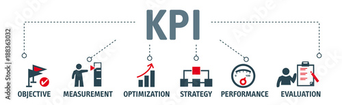 Fotografía  Key Performance Indicator concept vector illustration