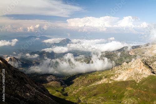 Foto op Plexiglas Panoramafoto s Turkey mountais vith the clouds (Summer)