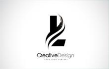 L Letter Design Brush Paint St...