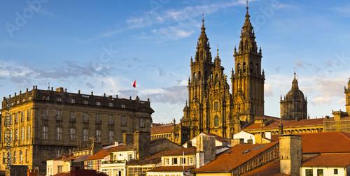 Fotografering Santiago de Compostela Cathedral Galicia Spain
